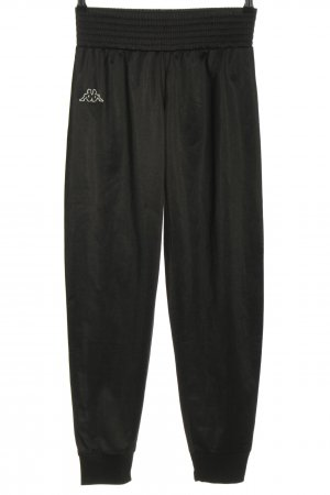 Kappa Sweat Pants black embroidered lettering casual look
