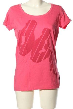 Kappa T-Shirt pink-rot Motivdruck Casual-Look