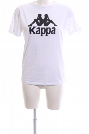 Kappa T-Shirt weiß Motivdruck Casual-Look