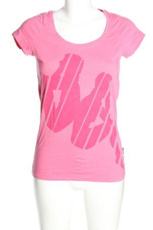 Kappa T-shirt rosa Stampa a tema stile casual