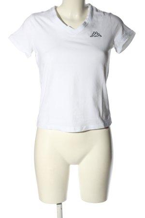 Kappa T-shirt bianco-nero stile casual
