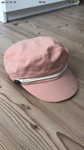 Bershka Cappello impermeabile bianco sporco-rosa