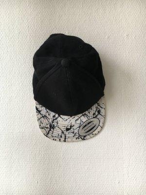 Berretto da baseball bianco-nero Tessuto misto