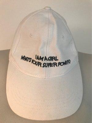 Bershka Sombrero de ala ancha blanco-azul oscuro
