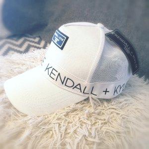 Kendall + Kylie Baseball Cap white cotton