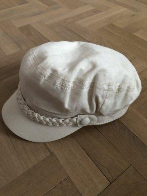 Cappello in tessuto bianco sporco Cotone