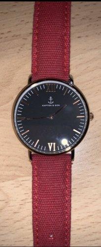 Kapten & Son Automatisch horloge zwart-donkerrood