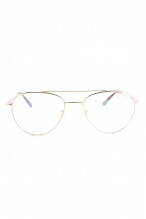 Kapten & Son Brille goldfarben-braun Casual-Look