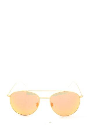 Kapten & Son Okulary pilotki jasny pomarańczowy-złoto W stylu casual