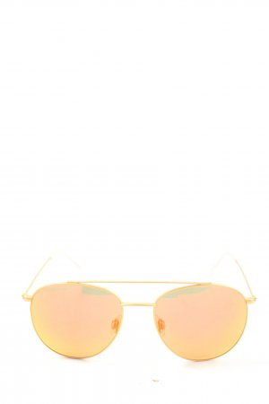 Kapten & Son Occhiale da pilota arancione chiaro-oro stile casual