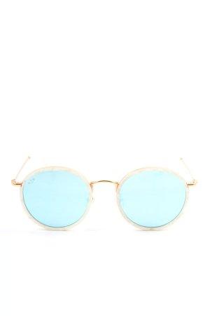 Kapten & Son runde Sonnenbrille goldfarben Casual-Look