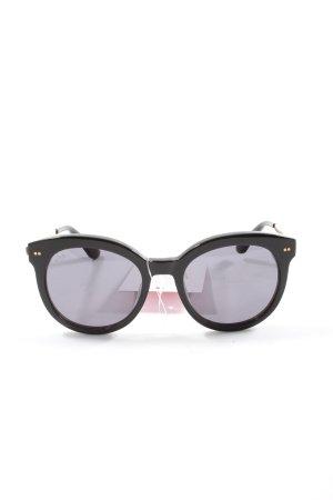Kapten & Son Gafas de sol redondas negro look casual
