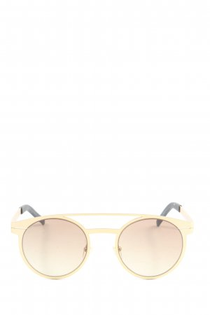 Kapten & Son Gafas de sol redondas color oro look casual
