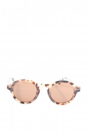 Kapten & Son Round Sunglasses natural white-brown allover print casual look