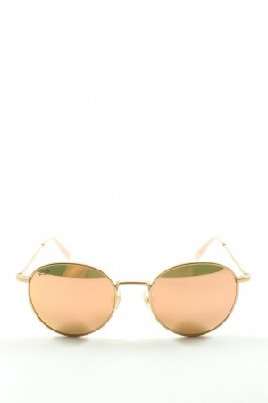 Kapten & Son Lunettes de soleil rondes doré style mouillé