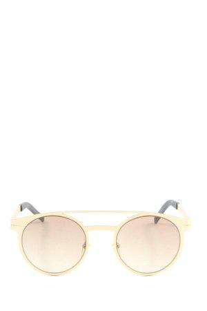 Kapten & Son runde Sonnenbrille creme-schwarz Casual-Look