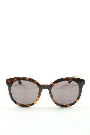 Kapten & Son Lunettes de soleil rondes noir motif abstrait style décontracté