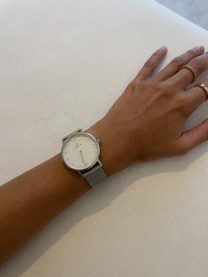 Kapten & Son Zegarek z metalowym paskiem srebrny