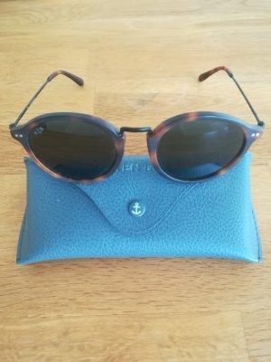 Kapten & Son Oval Sunglasses brown