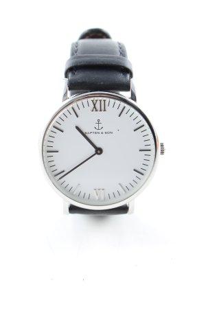 Kapten & Son Uhr mit Lederarmband schwarz Casual-Look