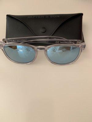 Kapten & Son Hoekige zonnebril neon blauw