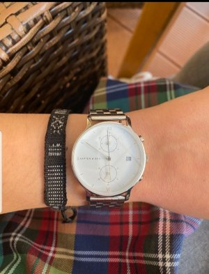 Kapten & Son Reloj con pulsera metálica color plata