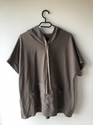 Blusa con capucha marrón grisáceo
