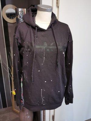 Camicia con cappuccio bianco-nero