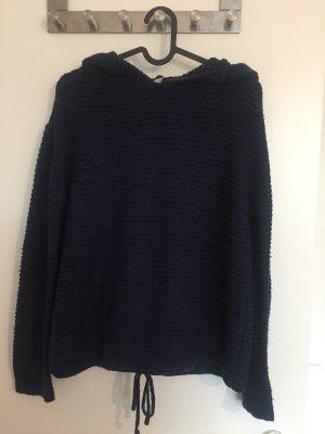 H&M Capuchon sweater donkerblauw
