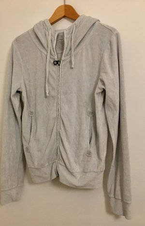 Better Rich Sweat Jacket light grey cotton