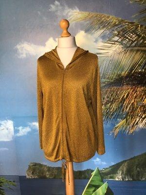 Veste à capuche ocre-orange doré