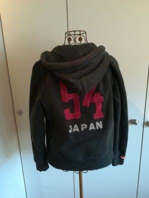 Superdry Sweat Jacket dark blue-red cotton