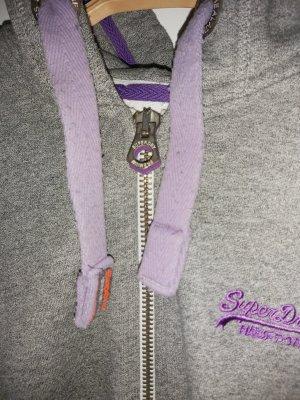Superdry Chaqueta de tela de sudadera gris-lila