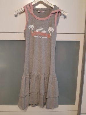 vacuum Sukienka bez ramiączek szary-różany Bawełna