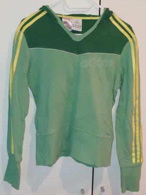 Adidas Pull à capuche vert-jaune