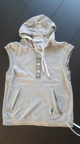 marc cain sports Hooded Shirt white-grey