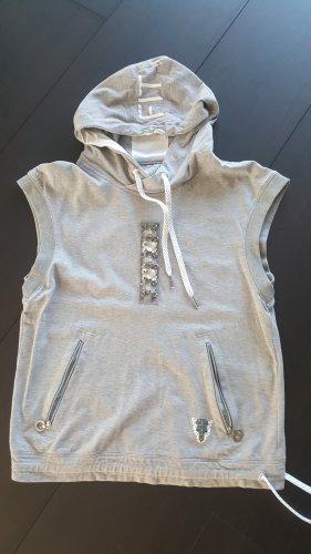 marc cain sports Top à capuche blanc-gris