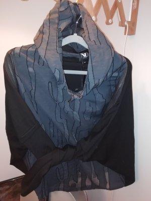 NÜ Denmark Shirt met capuchon zwart-antraciet