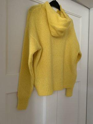 Amisu Sweter z kapturem żółty
