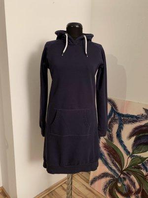 Blue Motion Vestido con capucha azul oscuro-violeta grisáceo Algodón