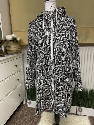FOX'S Płaszcz z kapturem czarny-biały
