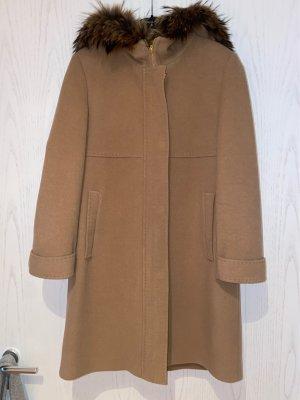 Basler Manteau à capuche chameau