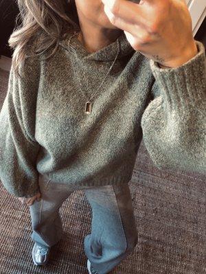 Kapuzen Pulli Sweater Pullover Strick zara