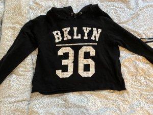 New Yorker Hooded Shirt black-white