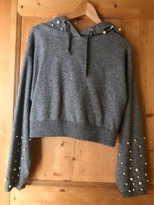 Kapuzen Pullover mit Perlen