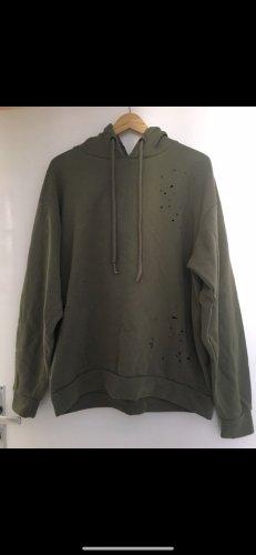 Pull & Bear Capuchon sweater khaki