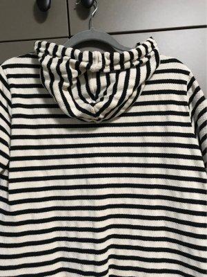 Opus Camicia con cappuccio nero-bianco
