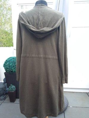 Cappotto a maglia cachi