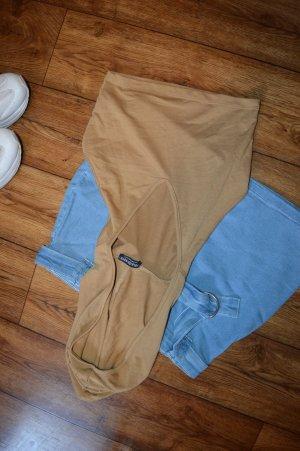 Shirt met capuchon bruin-lichtbruin