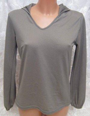 Kapuzen Top Größe M Netz Hoodie Shirt Oberteil V-Ausschnitt Langarm